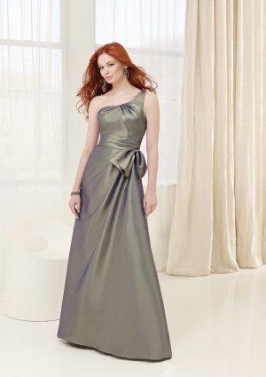2013 Hot Sale One Shoulder Litter Green Taffeta Pleat Bridesmaid Dress Evening Dress Party Dress