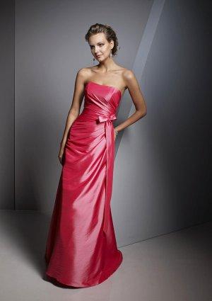 2013 Hot Sale Strapless Red Taffeta Pleat Bridesmaid Dress Evening Dress Party Dress