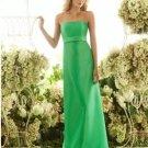 2013 Strapless Green Satin Pleat Bridesmaid Dress Evening Dress Party Dress