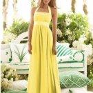 2013 Hot Sale Halter Yellow Chiffon Pleat Bridesmaid Dress Evening Dress Party Dress