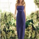 2013 Hot Sale Strapless Purple Chiffon Pleat Bridesmaid Dress Evening Dress Party Dress