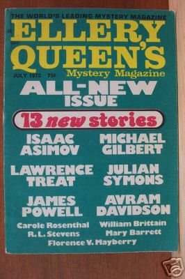 ELLERY QUEEN'S MYSTERY MAGAZINE July 1972, Vol 60, Softcover