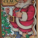 HERE COMES SANTA CLAUS Golden Sturdy Shape Book by M. Hover, Hardcover 1982
