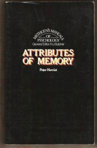 ATTRIBUTES OF MEMORY by Peter Herriot, Softcover 1974