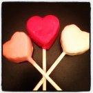 1 dozen mini heart cake pops