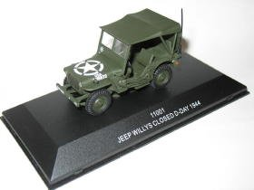 Jeep Willys closed D-Day 1944 1/43 die cast model car (Rare)