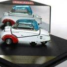 Messerchimtt KR200 1958 3-wheels car red white 1/43 die cast model car (Rare)