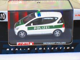 Mercedes Benz Germany Polizie A-class #510 1/72 die cast model car