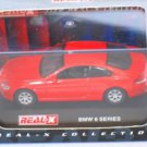 BMW 6 Series red 1/72 die cast model car