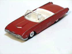 Ford Thunderbird Convertible 1963 Red (Rare) 1/64 Die Cast Model Car