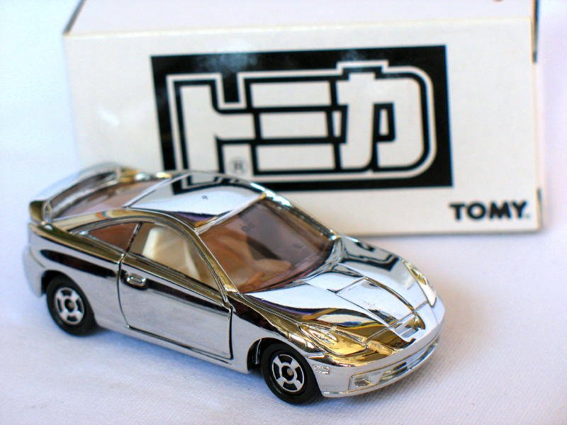 Tomy 30th anniversary Toyota Celica Silver 1/60 Die Cast Model CAr (Rare)