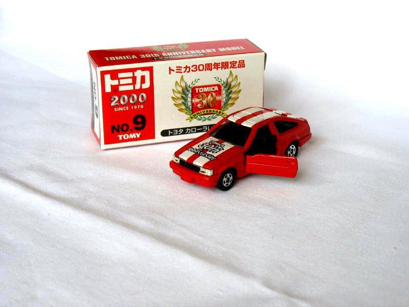 30th Anniversary Toyota Levin AE86 Red/White  #9 1/61 Die Cast Model Car (Rare)