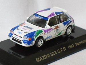 Mazda 323 GT-R 1993 Sanremos #19 1/64 die cast model car