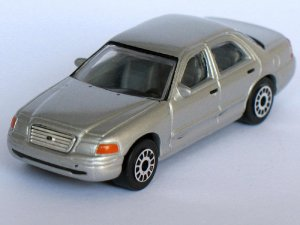 Ford Crown Victoria Silver 1/64 Die Cast Model Car (Rare)