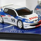 "Peugeot 206 WRC #99 ""ESSO"" Salon De Paris 1998 1/43 die cast model car (Rare)"