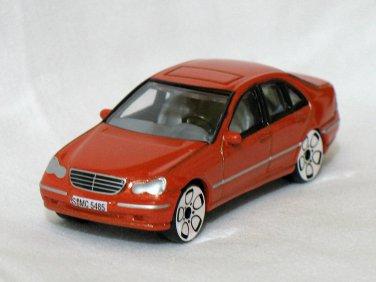 Mercedes Benz MB C-Class orange 1/57 die cast model car