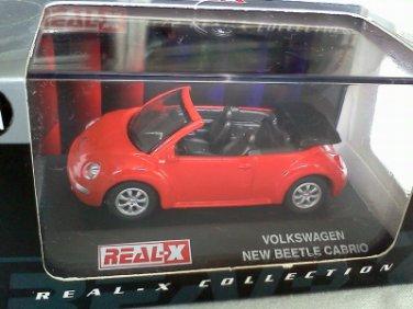 Volkswagen New Beetle Cabrio Red #121 1/72 Die Cast Model Car
