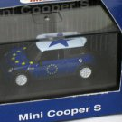Mini Cooper S White/Blue 1/72 Die Cast Model Car