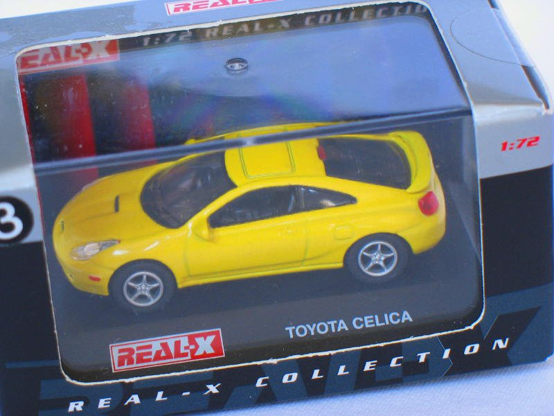 Toyota Celica Yellow 1/72 Die Cast Model Car