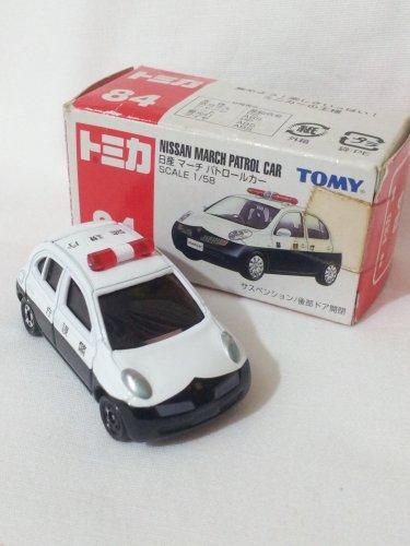 Nissan March Patrol Car #84 1/58 Die Cast Model Car (Rare)