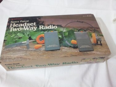 Vintage Archer Space Patrol Headset Two-Way Radio  60-4016  (9V battery not included and ) Rare