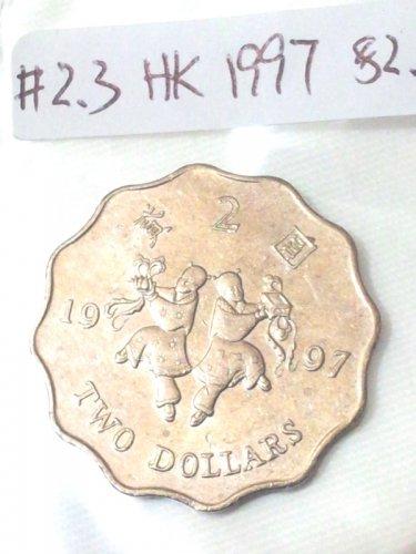 Hong Kong Coins 1997  Two Dollars ���� (Ho Ho Brothers commemorative)