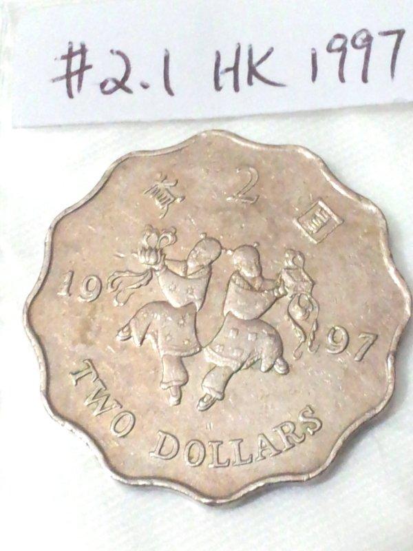 Hong Kong  Coin1997  Two Dollars ���� (Ho Ho Brothers commemorative)