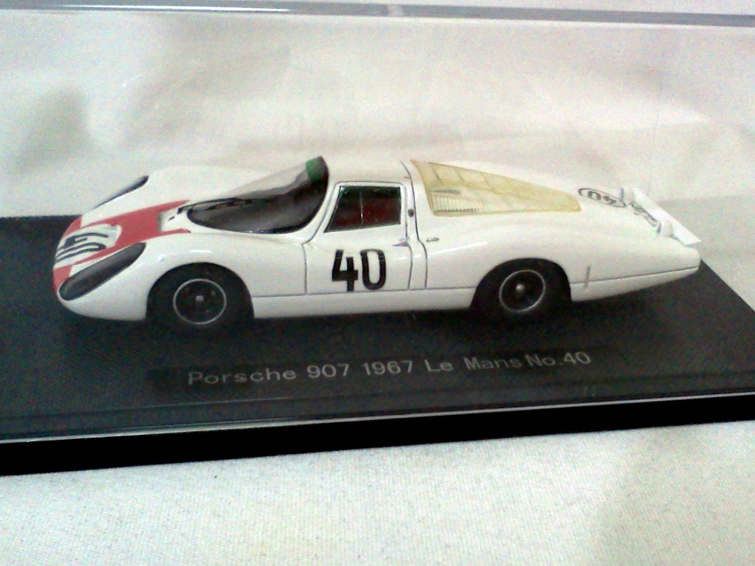 Porsche 907 1967 Le Mans #40 White/Red 1/43 Resin Model Car