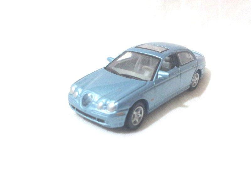 Jaguar S-type R  Light Steel Blue 1/72 Die Cast Model Car