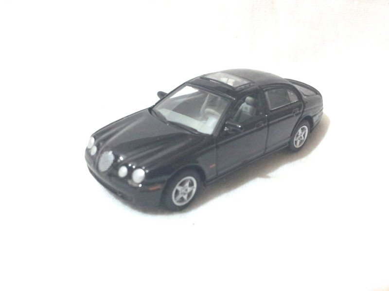 Jaguar S-type R Black 1/72 Die Cast Model Car