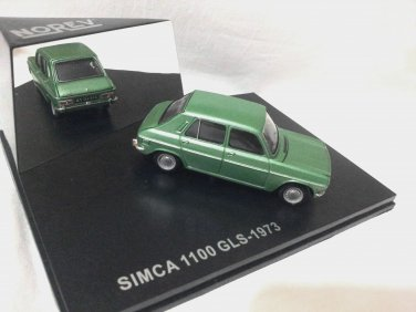 Simca 1100 GLS 1973 Green 1/43 Die Cast Model Car (Rare))