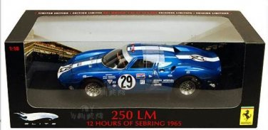 Ferrari 250LM 12 Hours of Sebring 1965  #29 1/18 Die Cast Model Car (5000 pcs only)