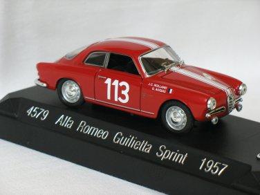 ALFA ROMEO GUILIETTA SPRINT 1957 #113  1/43 die cast model car
