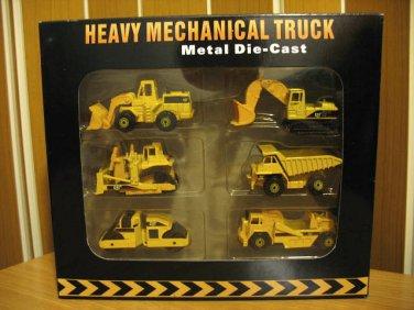 Heavy Mechanical Truck Set (6 pcs/set) 8 cm Die Cast Model (Rare)
