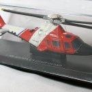 Agusta Carabinieri Sky Pilot U.S. Coast Guard Helicopter Black Red 1/100 Die Cast Model