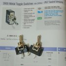 Arcolectric Metal Toggle Switches 16A 250Vac Single Pole On/Off (black) (Lot of 2 pcs)