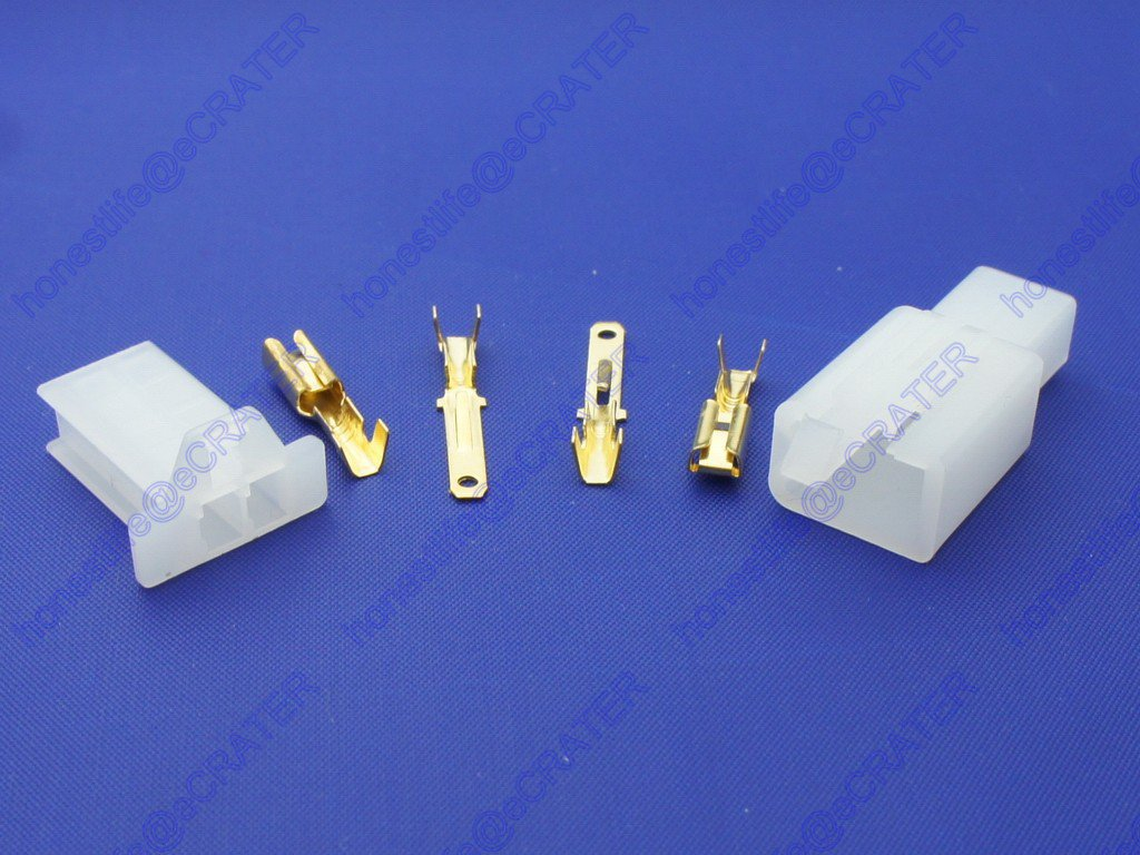 5 set 2.8mm 2 Way Electrical Connector Kit Male Female Motorcycle Motorbike Car