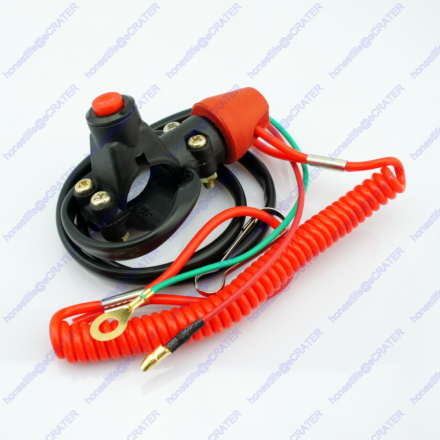 ATV Normally Opened Break Tether Emergency Kill Stop Engine Switch Push Button
