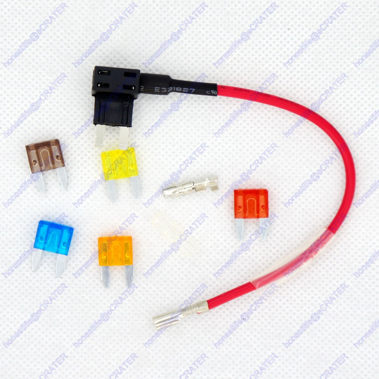 12/24V ATO ATC Mini Blade Fuse Holder Tap Dual Add a Circuit Vehicle 5 Fuses