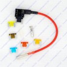 12/24V Micro Low Profile Blade Fuse Holder Tap Add a Circuit Vehicle 5 Fuses
