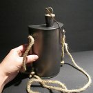 Antique Style Rev Revolutionary French Indian Civil War Tin Kidney Canteen