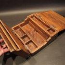 Antique Vintage Style Folding Document Writing Slope Wood Lap Desk Box