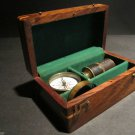 Antique Vintage Style Magnifying Glass Compass Telescope Wood Box Kit