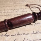 Antique Style Carved Turned Wood Signal Whistle Hunting Emergency