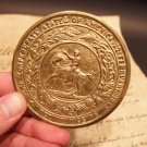 Antique Style Civil War Confederate Great Seal CS Belt Buckle Plate CAST Brass