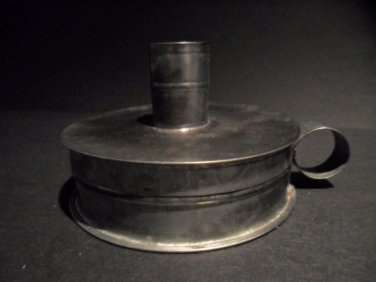 Antique Style Tin Toleware Candle Holder Tinder Box