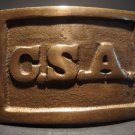 Antique Style Civil War Confederate CSA Belt Buckle Plate CAST Brass