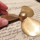 Vintage Antique Style Brass Nautical Boat Propeller Paperweight Desk Figure