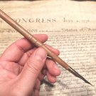 Vintage 18th 19th C Antique Style Turned Wood Inkwell Ink Dipping Pen