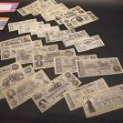 25 Antique Style Civil War CSA Confederate States Currency Money Parchment Paper